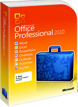 Офисное приложение Microsoft Office Professional 2010 32/64Bit Russian DVD BOX (269-14689)